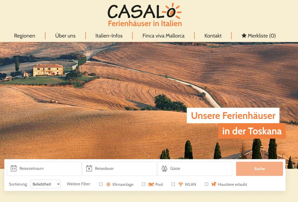 Ferienhaus-Vermittlungs-Website